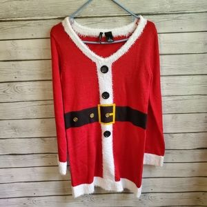 New Directions Size Small Santa Clause Knit Dress